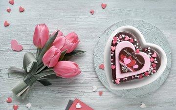 сердечко, букет, тюльпаны, шоколад, десерт, anya ivanova, . шоколад