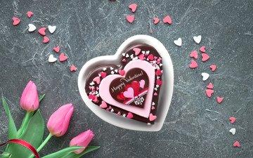 сердце, букет, сердечки, день святого валентина, тортик, anya ivanova