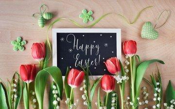 цветы, ландыши, тюльпаны, пасха, праздник, anya ivanova