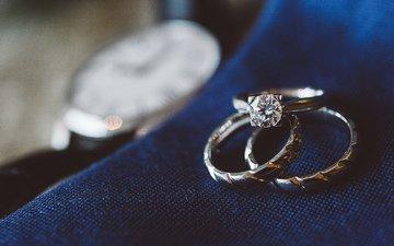 украшения, любовь, романтика, кольца, бриллиант