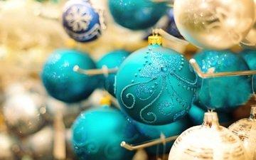 новый год, шарики, праздник