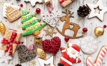 новый год, украшения, рождество, печенье, новогодние украшения, пряники, новогоднее печенье