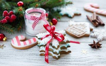 праздник, рождество, печенье, глазурь, композиция, olena rudo, имбирное