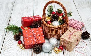 новый год, подарки, игрушки, праздник, шишки, новогодние украшения, композиция, olena rudo