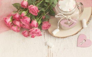 розы, кружка, букет, зефир, какао, маршмеллоу, colnihko