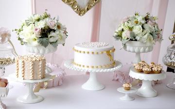 цветы, сладкое, выпечка, торт, пирожное, кексы, тортики