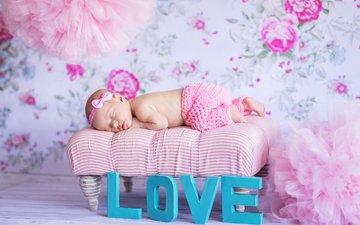 сон, дети, спит, девочка, ребенок, младенец, малышка, новорожденный, штанишки, konrad bak