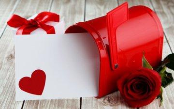сердце, любовь, лента, день святого валентина