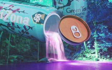фонтан, vaporwave, arizona ice tea