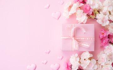 цветы, бутоны, сердце, любовь, подарок