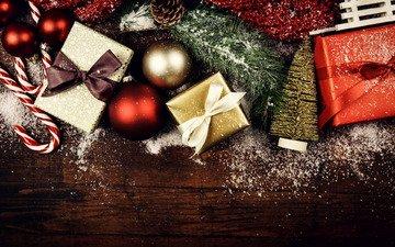 новый год, украшения, подарки, рождество, новогодние украшения