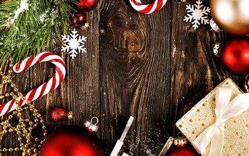 новый год, шары, украшения, рождество, снежинка, мишура, щар