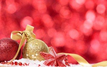 новый год, шары, звезда, рождество, декор