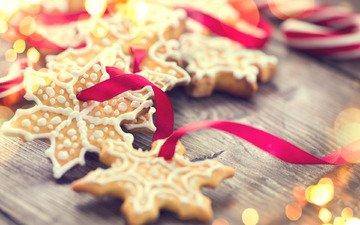 новый год, рождество, сладкое, печенье, десерт, новогоднее печенье
