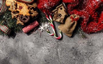новый год, украшения, рождество, печенье, леденцы, новогодние украшения