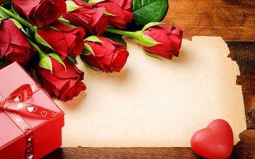 цветы, свечи, розы, сердечко, букет, подарок, красные розы
