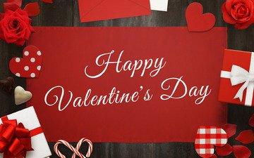 цветы, розы, подарки, красный, любовь, день святого валентина, открытка, боке, валентинов день
