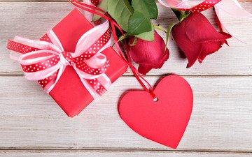 цветы, розы, сердце, подарок, праздник, день святого валентина, день святого валентин