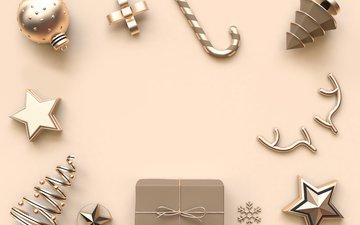 новый год, игрушки, праздник, рождество, новогодние украшения, композиция, декор