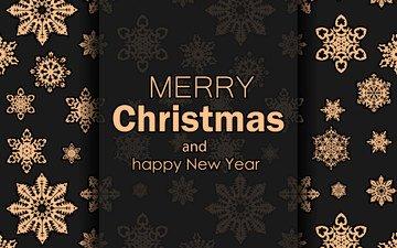 новый год, снежинки, фон, праздник, рождество