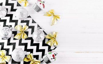 новый год, шары, игрушки, рождество, новогодние украшения, бантики, декор
