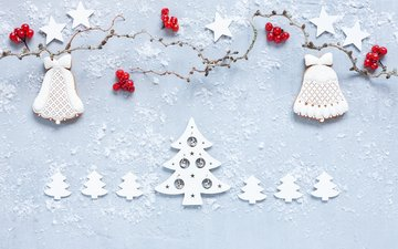 новый год, звезды, ягоды, елочки, рождество, украшение, новогодние украшения, декор, пряники, новогоднее печенье