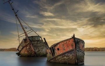 берег, корабль, мель