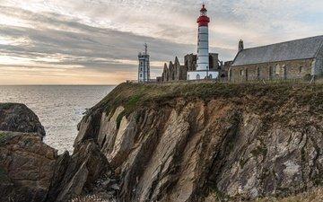 берег, море, маяк