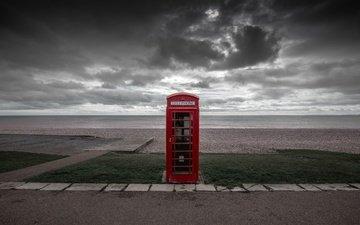 берег, море, телефон