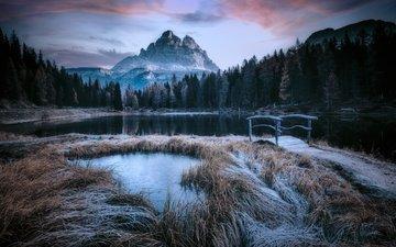 горы, природа, мост