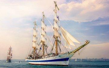 море, корабль, парусник
