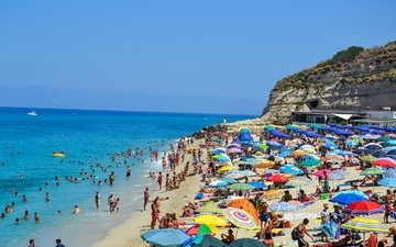 море, пляж, италия