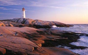 небо, облака, вода, природа, берег, море, маяк