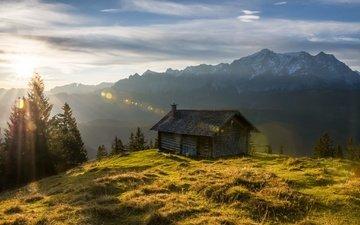 свет, горы, природа, утро